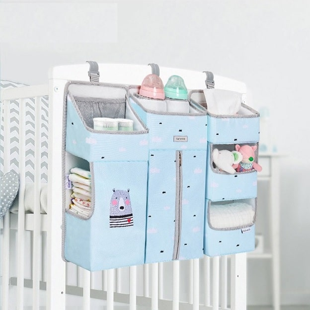 Diaper Caddy Crib Storage Bag