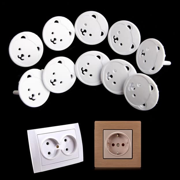 Socket Covers Electrical Plug Protection (10 Pieces)