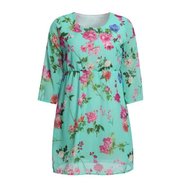 Light And Comfortable Floral Maternity Dress Pregnancy Clothes